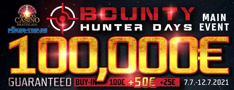 Známy Bounty Hunter Days 100,000€ GTD v Banco Casino – Júl 2021!