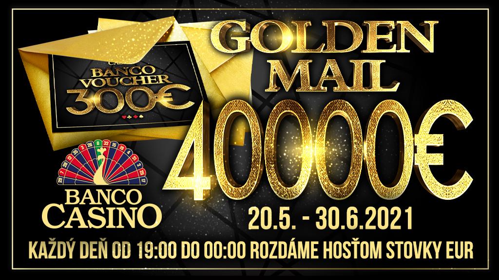 """""""Zlatá Pošta"""" v hodnote 40 000€ čaká na jej vyzdvihnutie v Banco Casino!"""