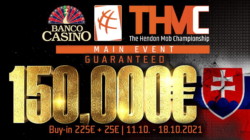 The Hendonmob Championship s Main Eventom 150,000€ GTD prichádza – október 2021!