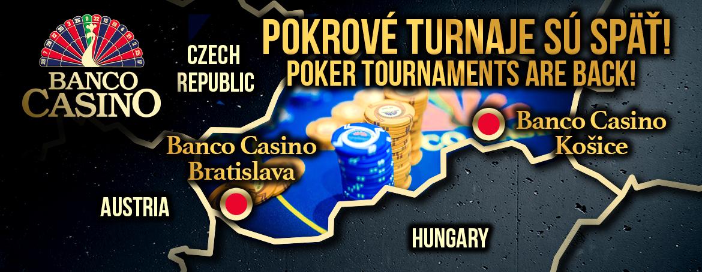 Pokrové turnaje v Banco Casino Košice sú späť!