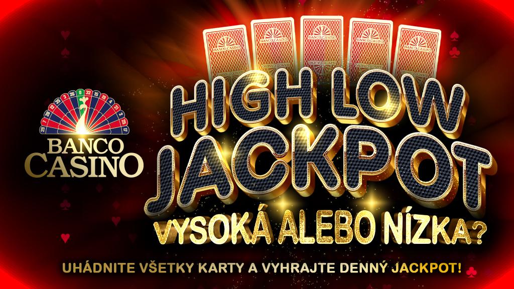 High Low JACKPOT – vyhrajte stovky eur každý deň!