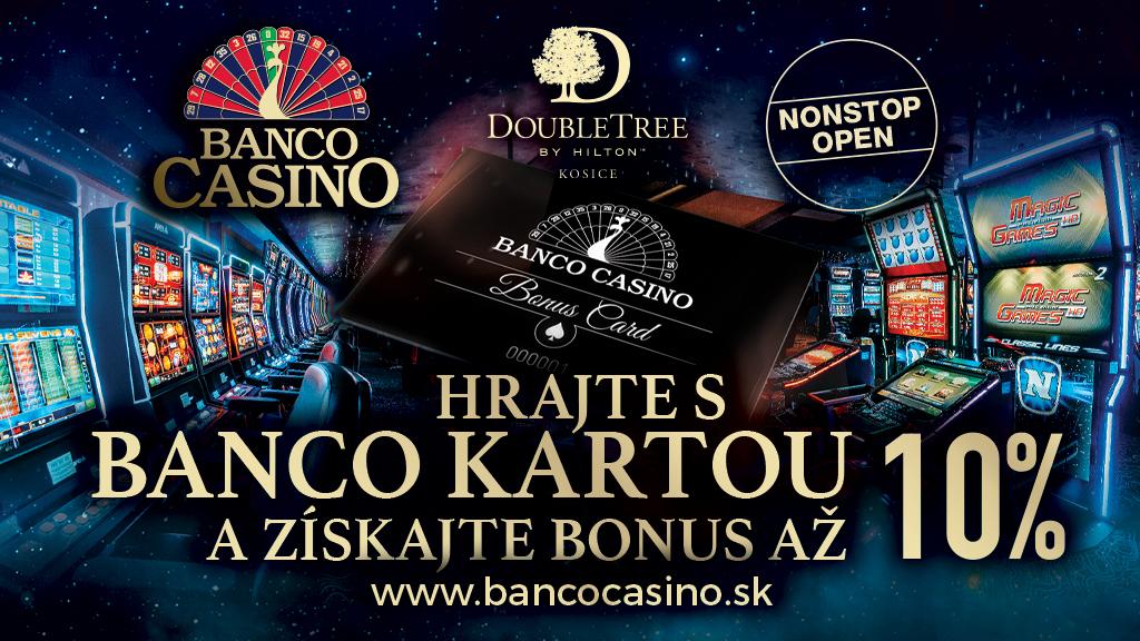 Hrajte s Banco Kartou a získajte bonus až 10%!