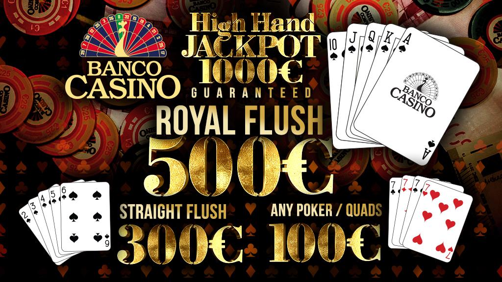 Cash Game High Hand Jackpot – každý deň!